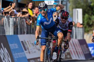 Alejandro Valverde (Movistar) wins stage 3 of the 2021 Giro di Sicilia