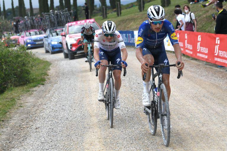 Remco Evenepoel and Joao Almeida at the 2021 Giro d'Italia