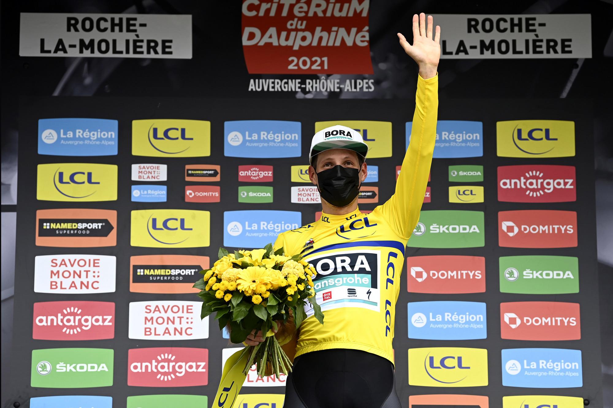 Criterium du Dauphine 2021 - 73rd Edition - 4th stage Firminy - Roche La Moliere 16,4 km - 02/06/2021 - Lukas Postlberger (AUT - Bora - Hansgrohe) - photo Nico Vereecken/PN/BettiniPhoto©2021