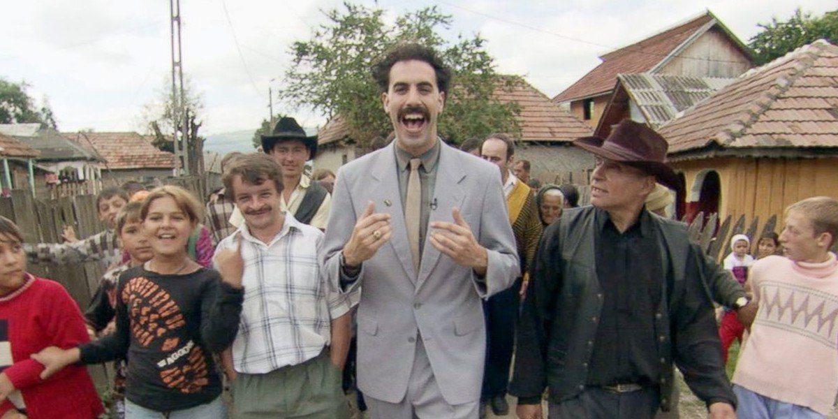 Borat in the middle