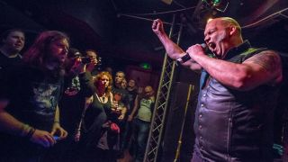 Blaze Bayley onstage at Fuel, Cardiff