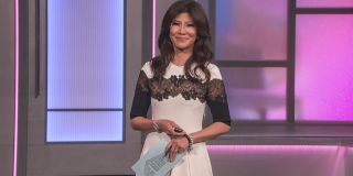 Julie Chen Moonves smiling on the Big Brother stage Big Brother CBS