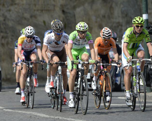 Cameron Wurf in escape, Giro d'Italia 2013, stage one