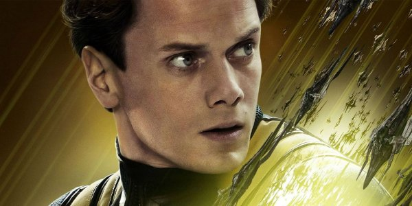 Star Trek Beyond Anton Yelchin in the middle of a poster pose