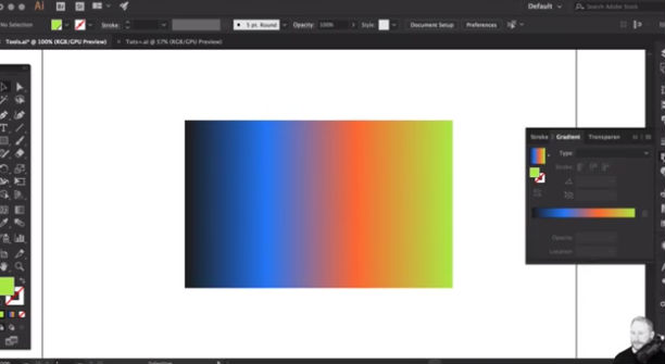 Illustrator tutorials: create and edit gradients