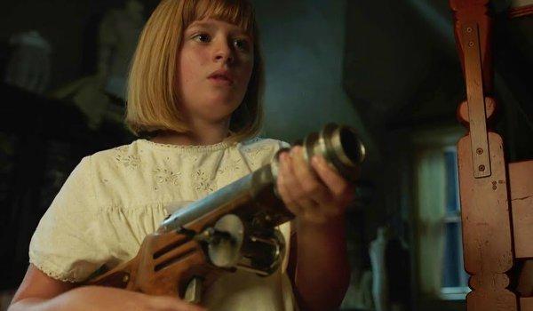 Annabelle Creation Toy Gun scene