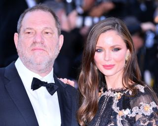 "U.S. producer Harvey Weinstein and his wife Georgina Chapman attend a screening of the film ""The Little Prince"" in Cannes, France, on May 22, 2015."