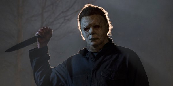 Michael Myers holding knife in new Halloween movie