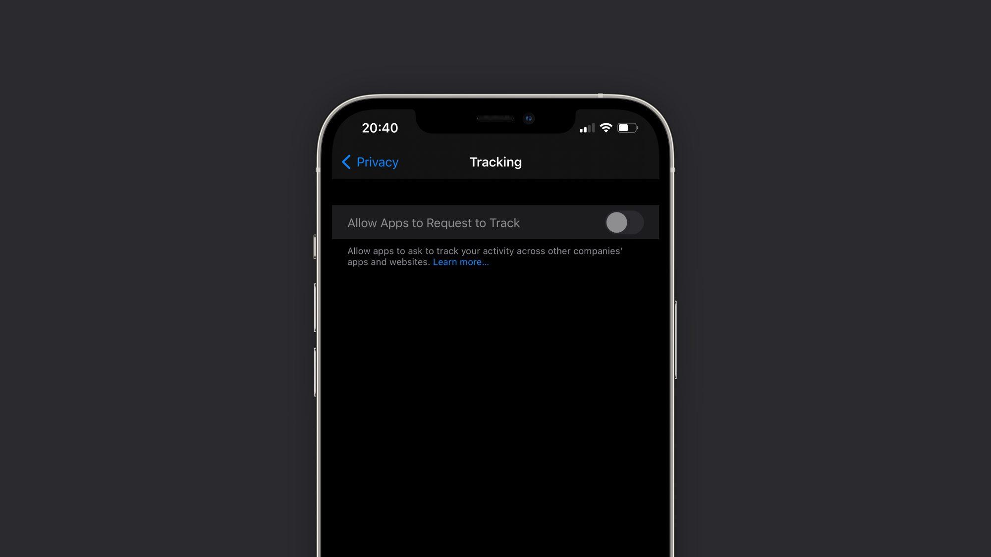 iOS 14.5 Transparentnost praćenja aplikacija
