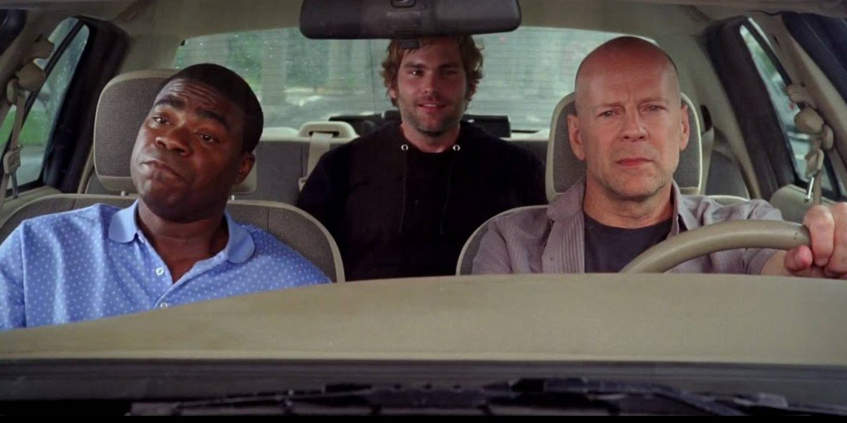 Tracy Morgan, Seann William Scott, and Bruce Willis in Cop Out