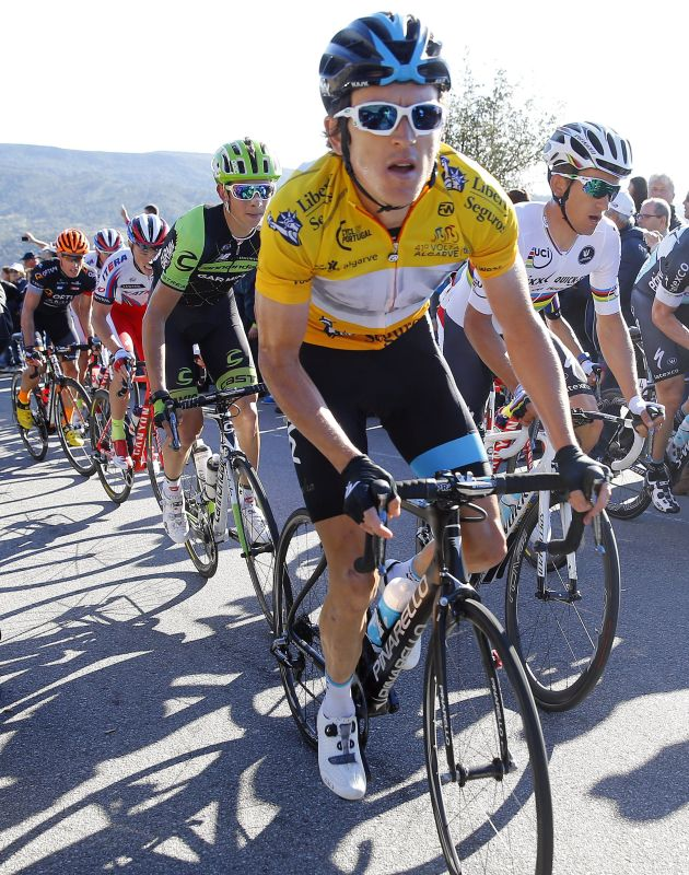 Geraint Thomas in action during Stage 4 of the 2015 Volta ao Algarve