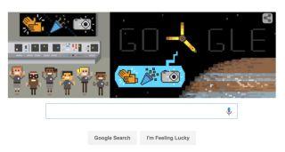 Google Doodle of Juno at Jupiter