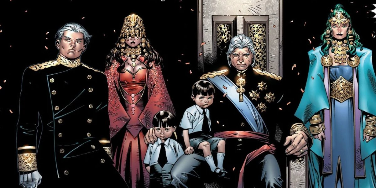 Magneto as Lord Magnus with his House of M family