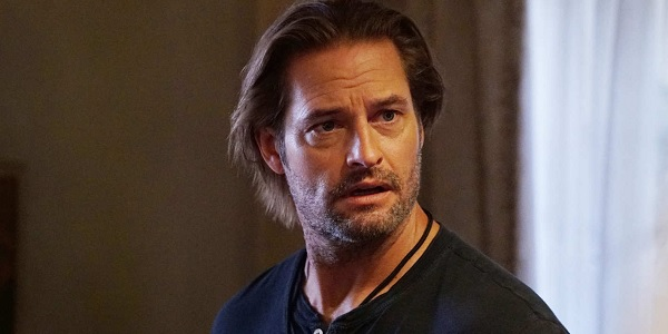 Colony Josh Holloway looking concerned in his living room