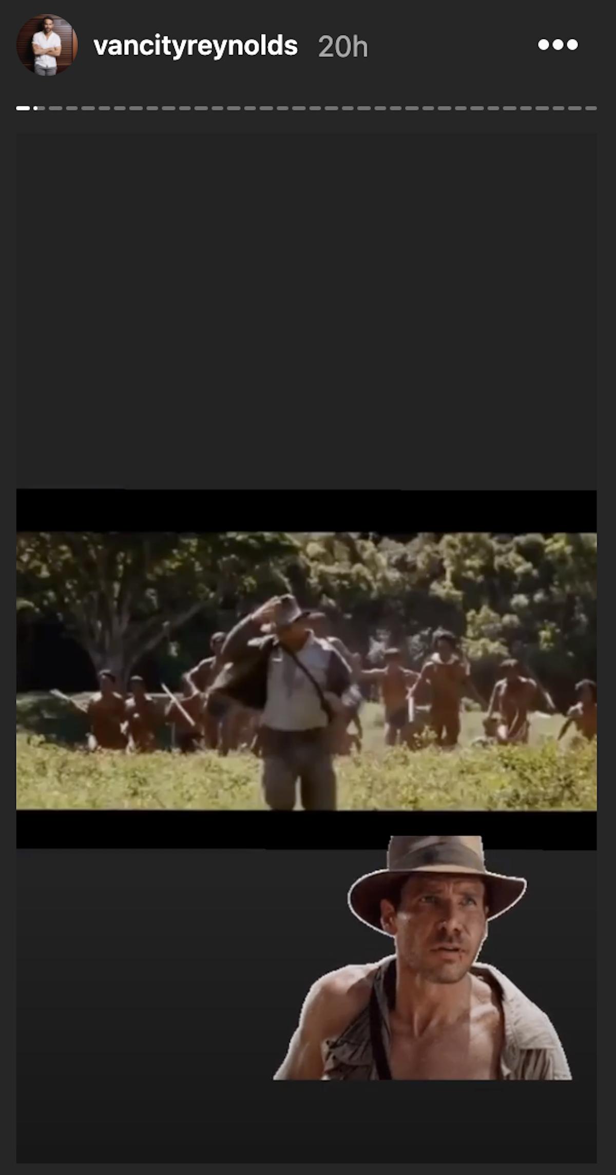 Indiana Jones running away
