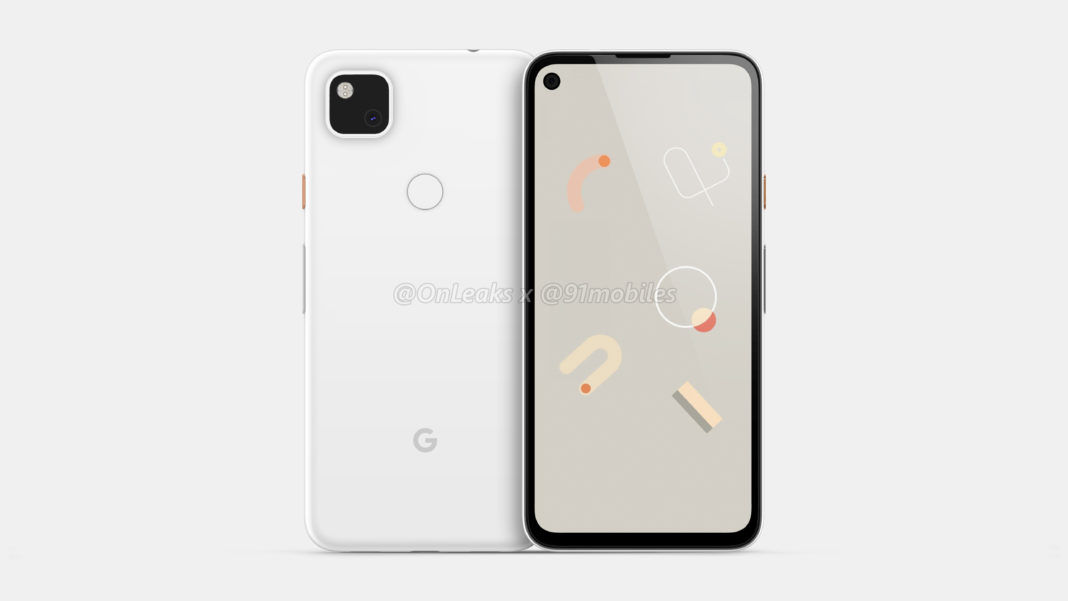 Pixel 4a renderiza frente e verso