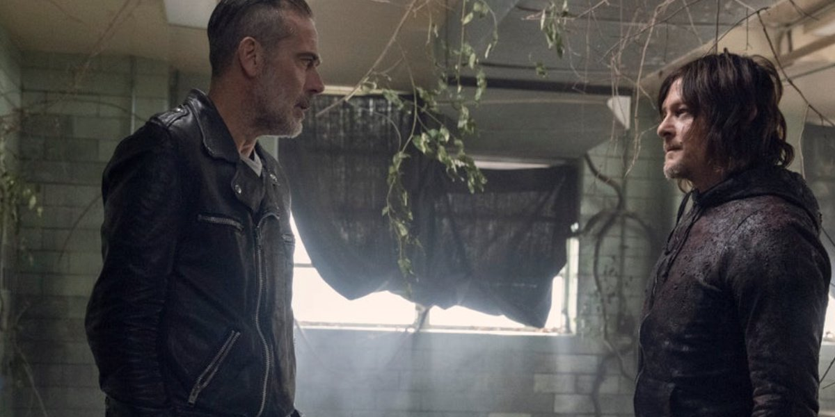Negan and Daryl in The Walking Dead.