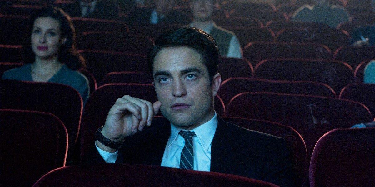 Robert Pattinson in a movie theater