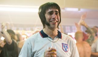 Sacha Baron Cohen drinking a pint in Grimsby.
