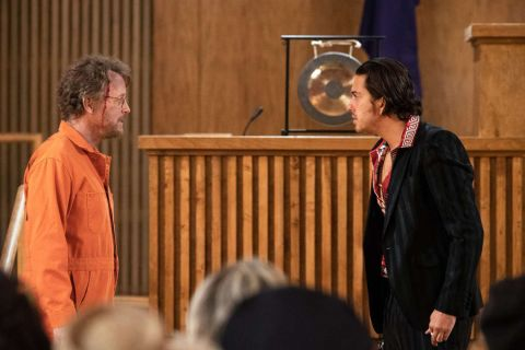 Greg Kinnear and Nat Wolff in 'The Stand.'