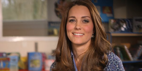Kate Middleton smiling in Place2Be video message