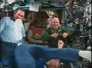 ISS Crew Gets a 'Kick' From Soccer Team Call