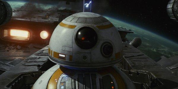 BB-8 On Poe's ship in The Last Jedi