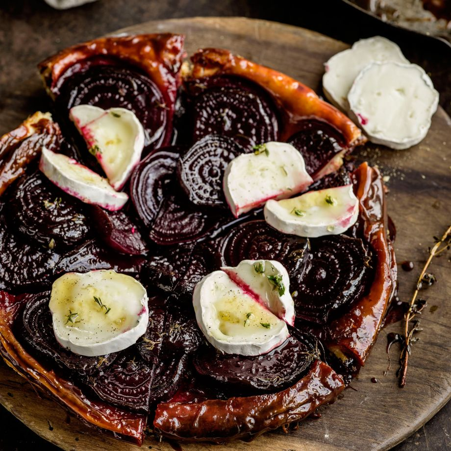 Pomegranate Molasses Griddled Steak, with Roasted Beetroot and Garlic Mash Recipe forecast