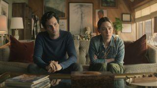 Penn Badgley and Victoria Pedretti in You season 3