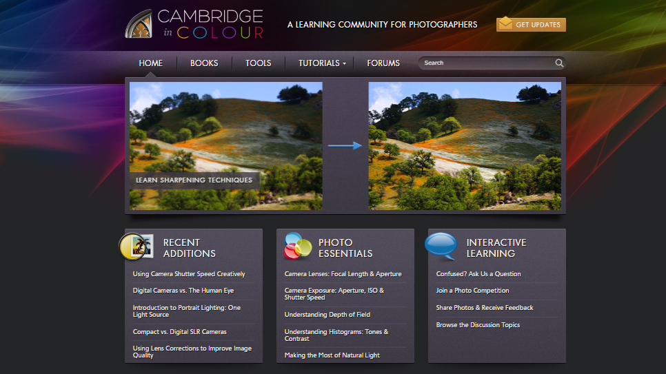 Photography websites: Cambridge in Colour