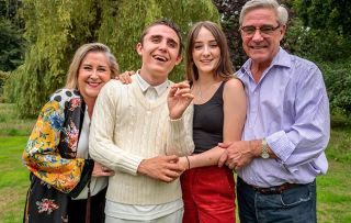 Gogglebox star Dom talks Steph and Dom Parker, with their children, Max, 18, and Honor, 15.
