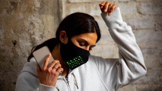 Mastercard LED face mask