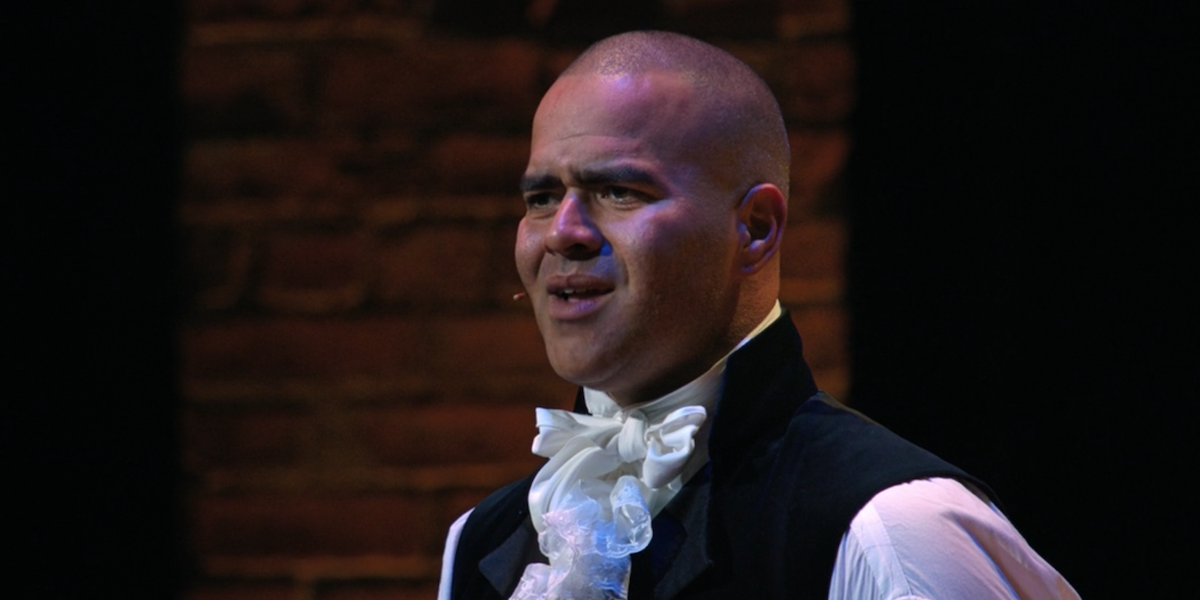 "Christopher Jackson singing ""One Last Time"""