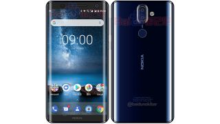 The Nokia 9 could be a curvy, glass-backed phone. Credit: @baidunokibar
