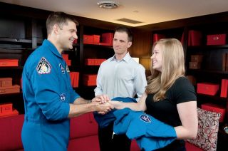 Canadian astronaut Jeremy Hansen, and candidates Josua Kutryk and Jennifer Sidey-Gibbons
