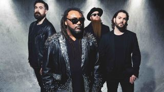 A portrait of Skindred