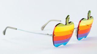 Apple logo glasses