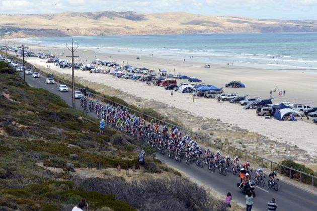 Aldinga beach, Tour Down Under 2013, stage five