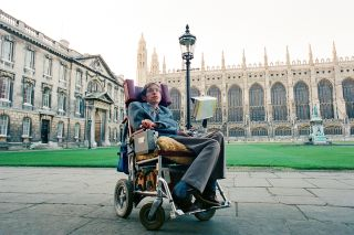 Stephen Hawking lived with amyotrophic lateral sclerosis (ASL) for most of his life. Above, a photo of Hawking in 1988.