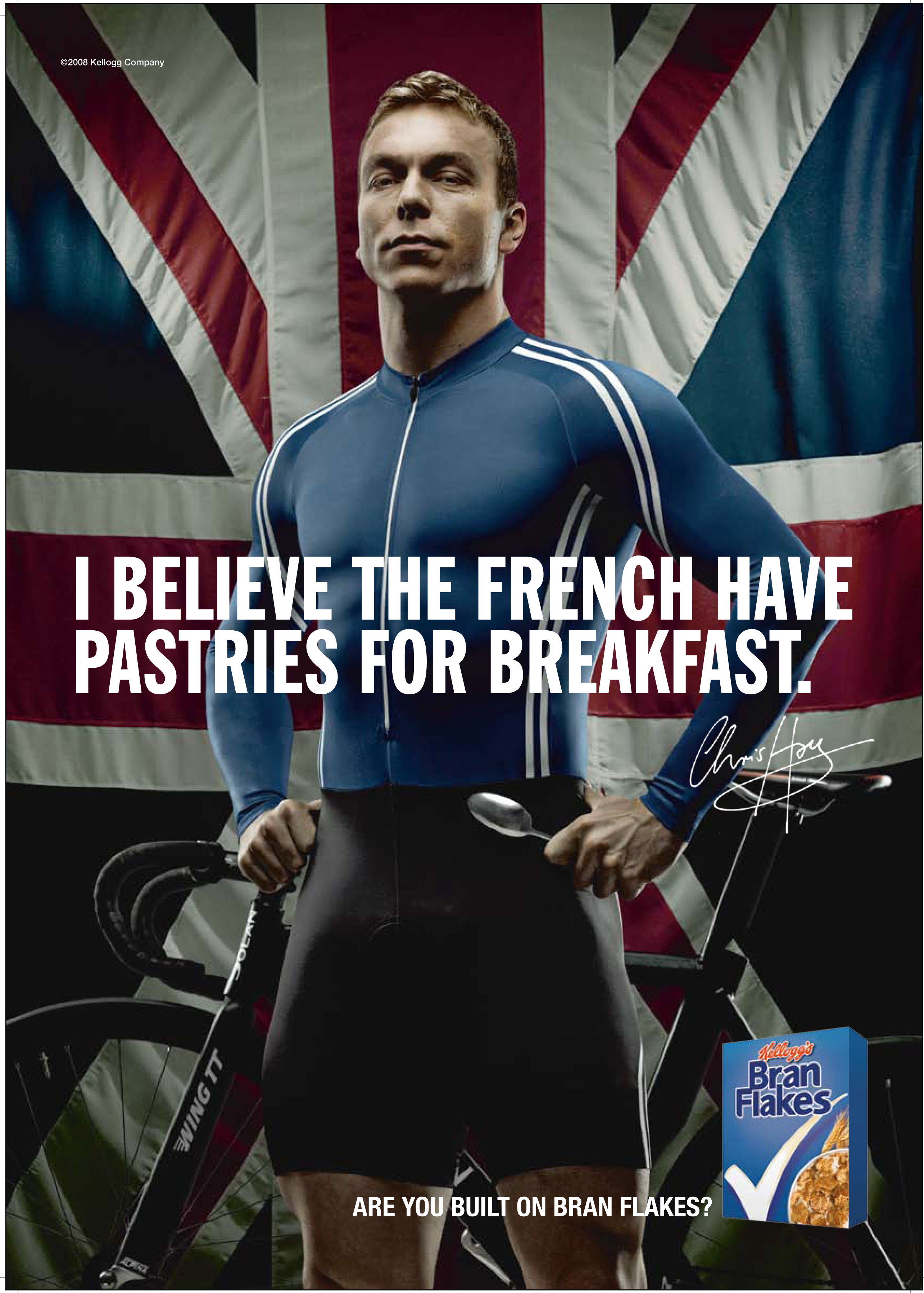 Chris Hoy Brank Flakes advert