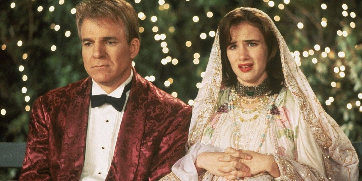 Steve Martin and Juliette Lewis in Mixed Nuts