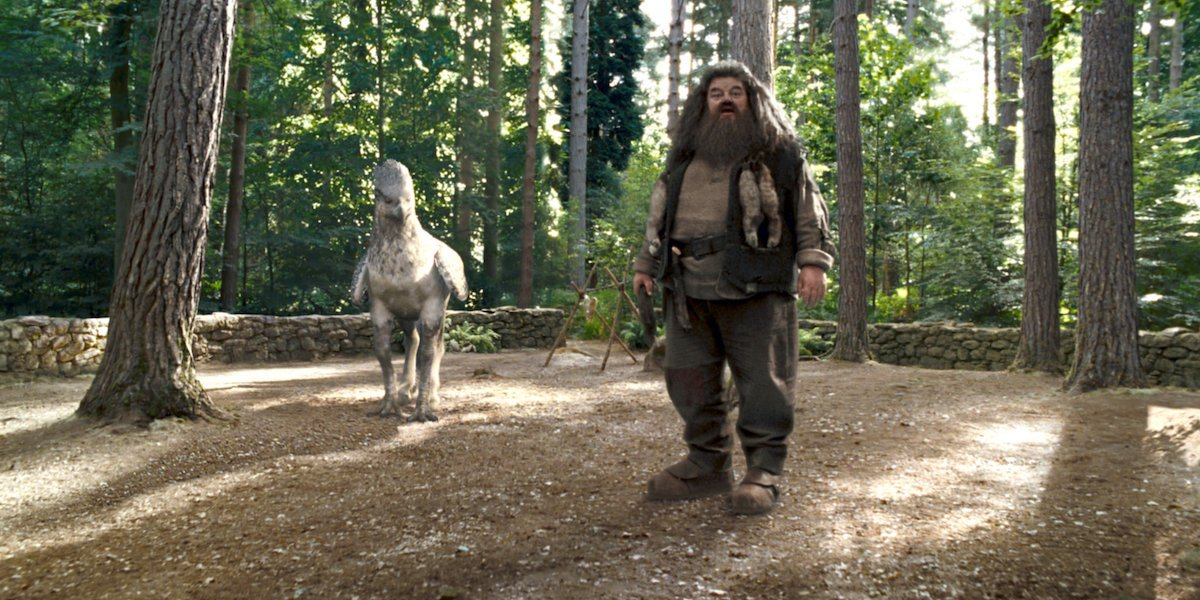 Hagrid and Buckbeak in Harry Potter and the Prisoner of Azkaban