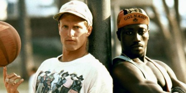 Woody Harrelson and Wesley Snipes in White Men Can't Jump poster