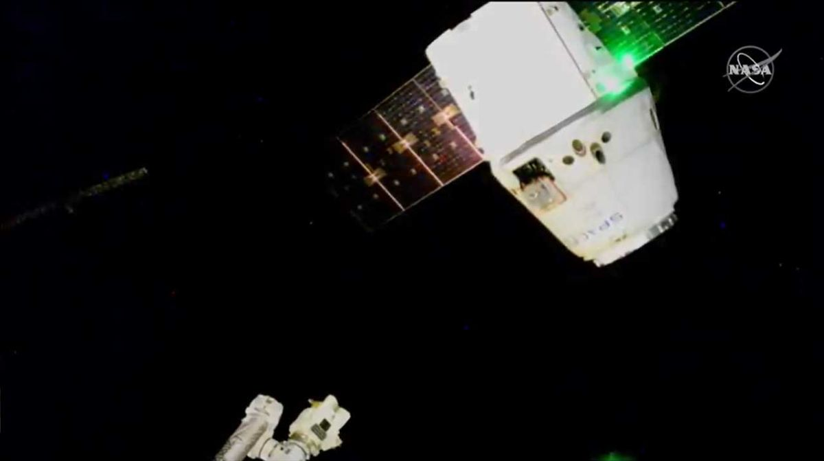 SpaceX Dragon cargo ship, the last of its kind, heads back to Earth from space station