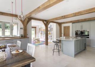 l shaped open plan kitchens