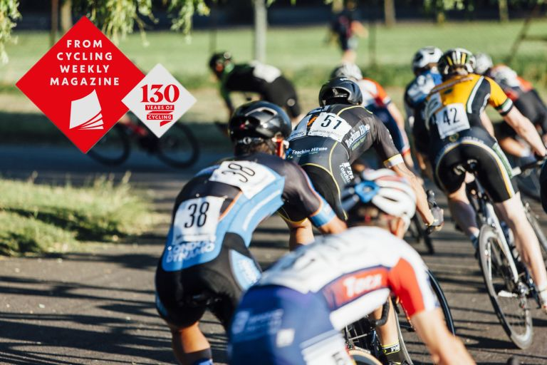 Racers at the Crystal Palace Criterium n 2016