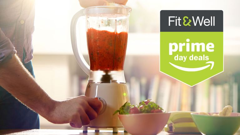 Man using a blender, one of the product types expected to be discounted in the Amazon Prime Day kitchen deals