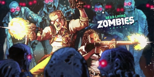 Actors fighting zombies in Far Cry 5 promotional art.