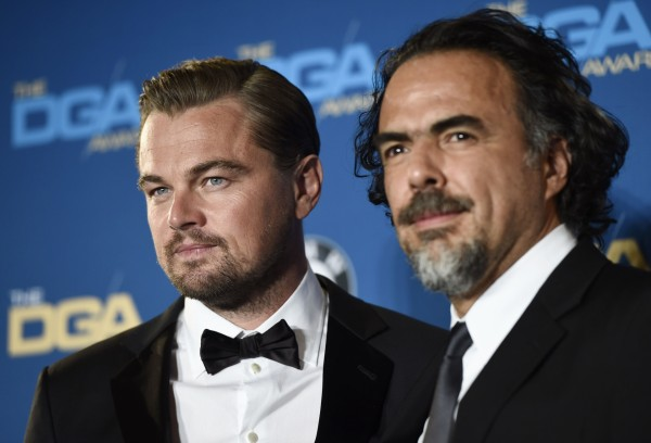 Leonardo DiCaprio and director Alejandro Inarritu