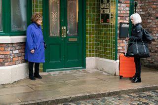 Rita says goodbye to Sharon Bentley